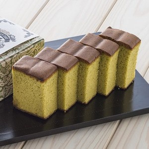 Halal matcha castilla (sponge cake)