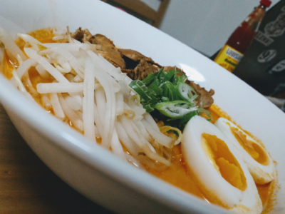 close photo of ramen