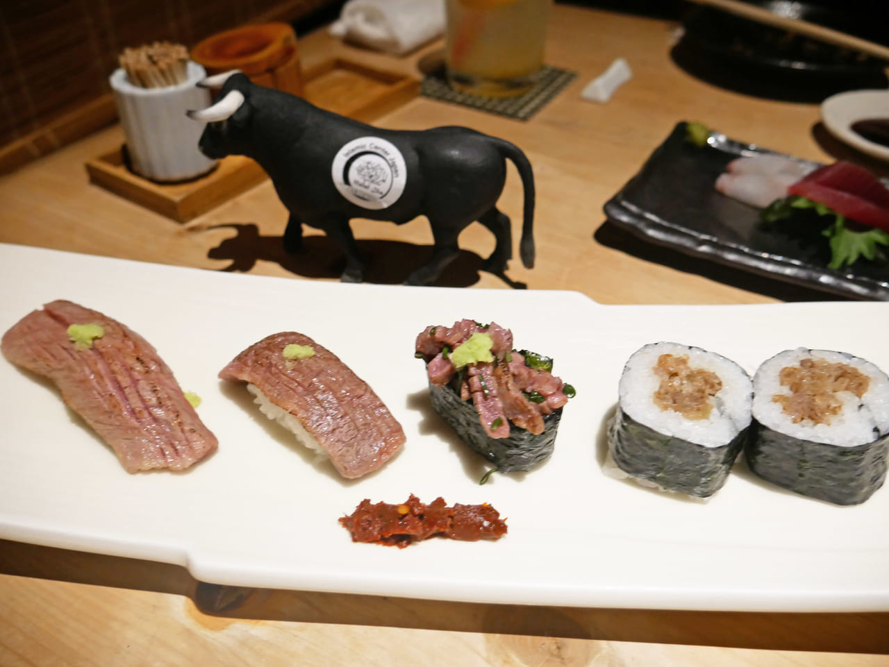 The Overwhelming Halal Ozaki Beef Menu With The Best Japanese Hospitality It S In Gonpachi Shibuya Food Diversity Today