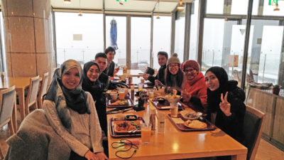 Fam trip group enjoy halal dishes